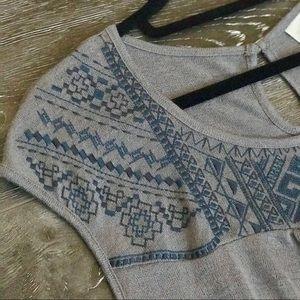 NWOT Knox Rose Cap Sleeve Knit Top with Tie Waist